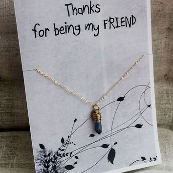 Thanks Being My Friend Stone Pendant Woman Holiday Gift pendant Necklace