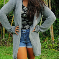 Long Grey Cardigan 90s