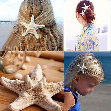 Fashion Hair Clip Beach Wedding Bridal Sea Shell  Boho Style Headwear Hair Accessories