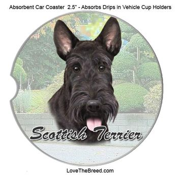 Scottish Terrier Absorbent Car Coaster