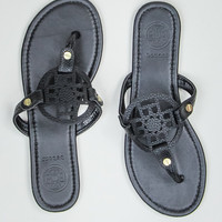 Simple Thong Sandal in Black