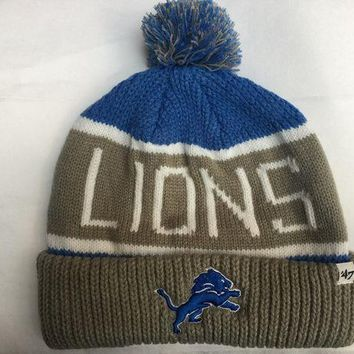 ONETOW NFL Detroit Lions Calgary Cuff Knit Beanie