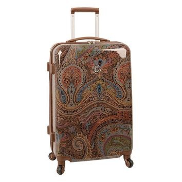 Chaps Luggage, Hyde Park Paisley 24-inch Hardside Spinner Upright (Green)