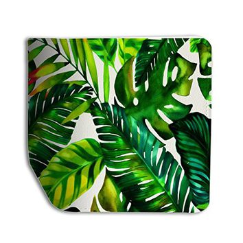 Tropical Green Leaves Leather Passport Holder Protector Cover_SUPERTRAMPshop