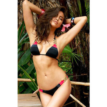 Hot Swimsuit Beach Summer New Arrival Sexy 3-color Backless Low Waist Bottom & Top Swimwear Bikini [4914903684]