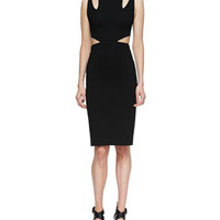 Cushnie et Ochs Cutout Compact Sheath Dress, Black