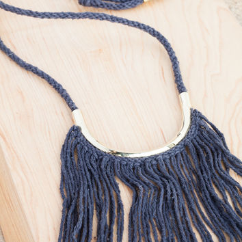 Erin Considine Lunate Fringe Necklace