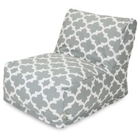 Gray Trellis Bean Bag Chair Lounger