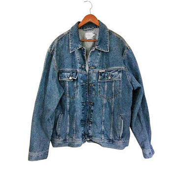 Men Denim Jacket 90s Denim Jacket Calvin Klein Denim Jacket 1990s Jacket 3X JacketMen Fall Jacket Men Jean Jacket 90s Jean Jacket Blue Jean