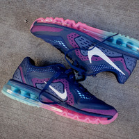 NIKE WMNS Air Max 2014 - Midnight Navy / Glacier Ice / Pink Glow | Sneaker | Kith NYC