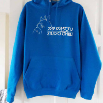 Studio Ghibli logo unisex pull over hooded sweatshirt/hoodie