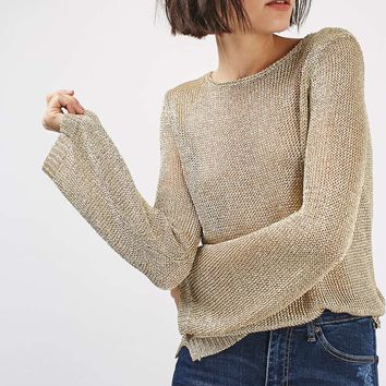 TALL Metal Yarn Jumper | Topshop