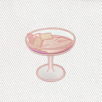 Champagne Glass Patch