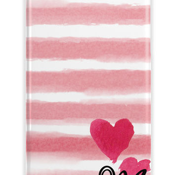 WATER COLOR STRIPES WITH HEARTS - UNIQUE GIFT FOR DAUGHTERS