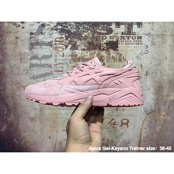 asics pink gel kayano trainer retro running sneaker