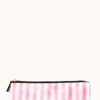 Small Glittered Stripe Cosmetic Pouch