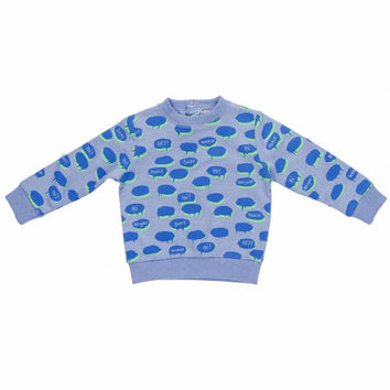 Stella McCartney Baby Boys Blue Chat Bubble Sweatshirt