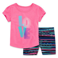 Xersion Girls 2-pc. Short Sleeve Short Set - JCPenney