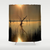 Worshipping Nature Shower Curtain by Chris' Landscape Images Of Australia