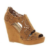 New Look Rosie Cut Out Wedge Shoes at asos.com