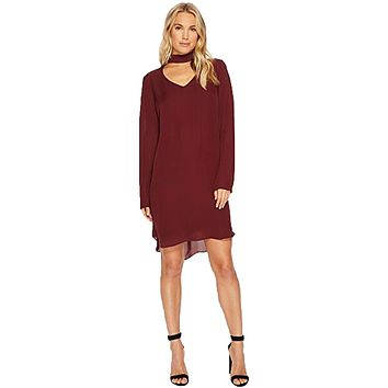Sloan Silk Peek A Boo Neck Dress