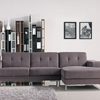 Divani Casa Forli - Modern Fabric Sectional Sofa With Right Facing Chaise