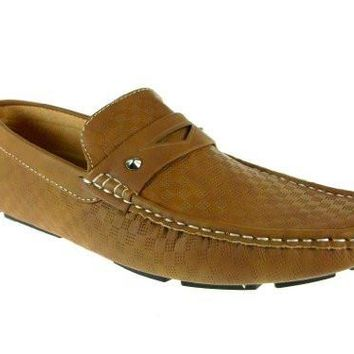 iMarc Men's Bradley Casual Slip on Checkered Loafers