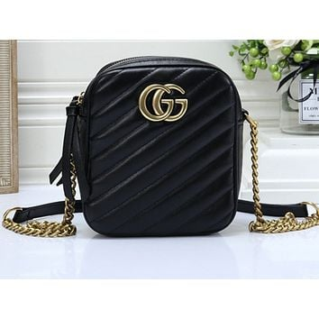Gucci Fashion Sells Pure Single Shoulder Bags Black