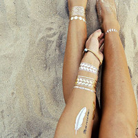 Metallic Temporary Tattoo - Gold Tattoo - Tattoo Jewelry