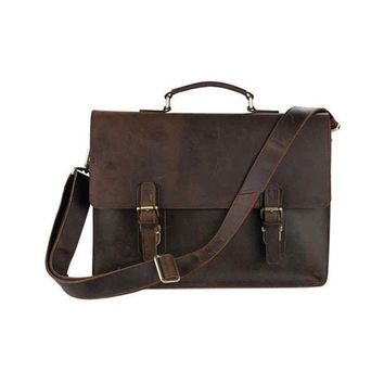 Brown Leather Brief Bag