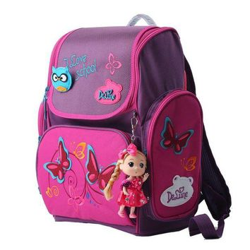 DKLW8 High quality brand Delune Super light 3D reflective children free Doll school bag kids students cartoon backpack girl travel bag