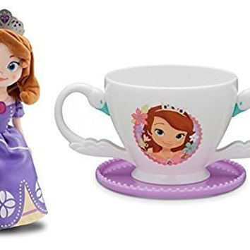 "Disney Sofia the First Plush Doll 13"" and Sofia Cup Bundle Set"