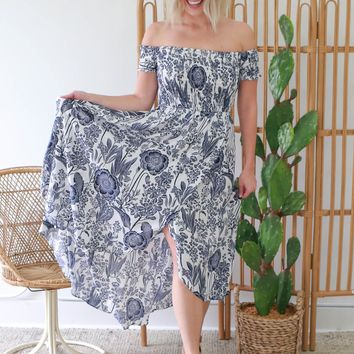 Deep Waters Maxi Dress