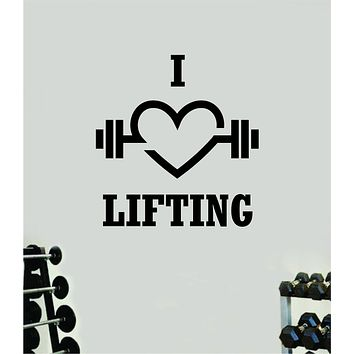 I Love Lifting Fitness Gym Wall Decal Home Decor Bedroom Room Vinyl Sticker Art Teen Work Out Quote Beast Lift Strong Inspirational Motivational Health School