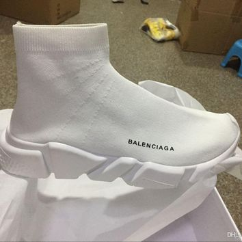 Balenciaga Sock Sport running Good Quality Red Yellow Speed Trainer Casual Shoe Man Woman Sock Shoes Sneakers Boots With Box Stretch-Knit Casual Boots Race Runner Cheap Sneaker High Top