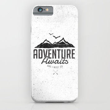 ADVENTURE AWAITS iPhone & iPod Case by Magdam