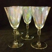 4 Iridescent Goblets
