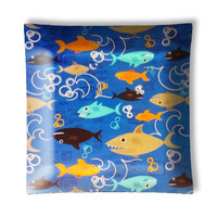 Fish Frenzy Swimming Shark Ceiling Light Lamp