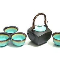 Ocean Breeze Tea Set - Distinctive Japanese Craftsmanship