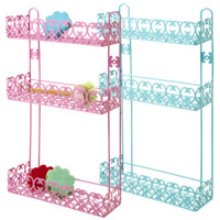 Kitchen 3 Tier Rack in Assorted Colors  in Pink and Turquoise - Rice A/S