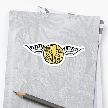 'The Golden Snitch' Sticker by beckyhphotog