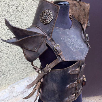 Traveler LEATHER ARMOR - COMPLETE Set Reenactment Larp