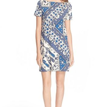 Women's Tory Burch Print Short Sleeve Dress,