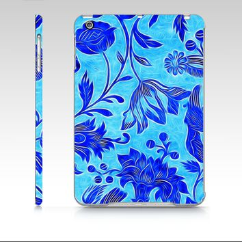 Vibrant Abstract Blue Floral iPad Mini Case