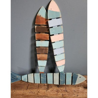 Fish Stick - Reclaimed Wood Wall Decor 8-in