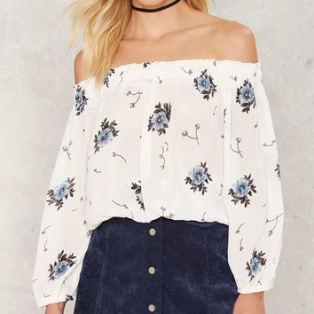 Fallin' for You Floral Off the Shoulder Top