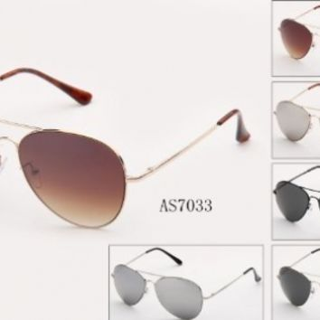 Metal Classic Spring Temple Hinge Aviator Sunglasses