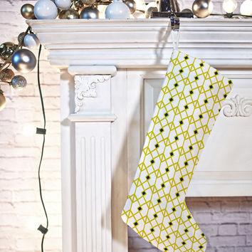 Heather Dutton Annika Diamond Citron Stocking