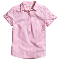 H&M - Short-sleeved Cotton Shirt -