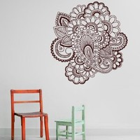 Wall Decal Vinyl Sticker Art Mehndi Henna Indian Pattern Beauty Folklore V375